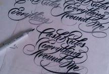 Lettering / Inšprirácia písma písaného // the art of lettering