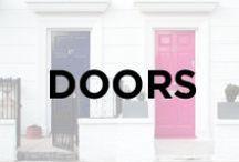 Doors / Front doors, kitchen doors, barn doors, colorful front doors, entrances, knock, door knobs.