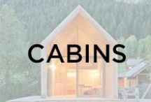 Cabins / Little houses, wood cabins, shelter, tree houses, wood houses.