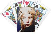 """Games / Designs by Rafael Salazar - Artist from Colombia Copyright 2015 - All rights reserved Dimensions: 2.5"""" x 3.5""""; poker size playing cards. Easy to shuffle, durable semi-gloss cards. 52 playing cards and 2 Jokers per deck. Comes with standard Bicycle cardboard case. Made in Kansas City, Kansas. USA"""
