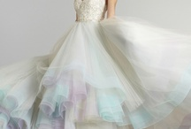 wedding color gowns