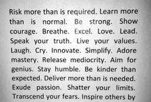 Words to live by<3 / by Jessica Hilliard