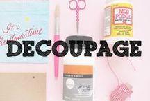 Decoupage Inspiration / Amazing inspiration for our Imaginista Decoupage kit!