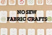 No-Sew Fabric Crafts / Fabric crafts for Kids without the hassle of threading needles and tying knots!