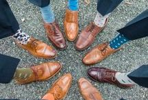 Wedding Socks / The wedding gown may be the star of the show, but we're interested in what's on those feet! These fun groomsmen socks are a cool way for your wedding party to add a personalized touch to their look!