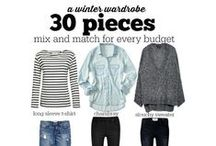 CAPSULE WARDROBE / Inspiration and Ideas for your next Capsule Wardrobe. Simple and frugal outfits to wear that will meet any clothing budget. Stay on budget and in style with these great capsule wardrobe ideas.