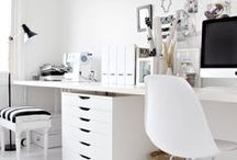 WORK SPACES WE LOVE / Home office ideas. DIY home decor. Budget home office spaces.