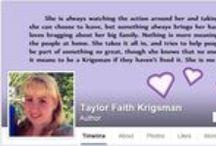 Taylor Faith Krigsman - author / Find work related to Taylor Faith Krigsman, an aspiring author. Follow her daily blog at taylortalks.net. See more at www.facebook.com/TaylorFaithKrigsman, follow Taylor on Twitter @TayTayK02, or follow Taylor on Wattpad @TayTayK02.