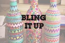 Bling It Up / Extra jewels from our kits add some serious sparkle to your craftiness