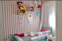 Quarto infantil / Idéias em objetos, composições e decoração para quartos infantis. Desde o primeiro quartinho do bebê até a evolução dele conforme as necessidades da criança conforme ela cresce!