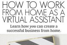 MAKE MONEY FROM HOME / Home based business ideas. Make money from home. VA for bloggers. Blogging for business. Make money blogging