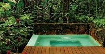 Casas lindas - espaços ao ar livre / Inspirações de lindas casas em meio à mata tropical