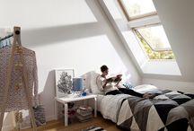 Home: Attic;  Loft space; Window Seats / Attic design; loft design; attic stairs; ladder stairs; loft stairs; window seats; small spaces; tiny houses