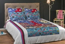 "Nautical Duvet Set - Pottering at the Port / Cotton sateen funky duvet cover set featuring the painting ""Pottering at the Port"" by the artist Marie Jonsson-Harrison / by ARTnBED"