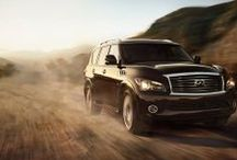 2014 Infiniti QX80  / The 2014 Infiniti QX80 offers a bold Exterior, powerful yet efficient 5.6 litre V8 and world-class luxury Interior. This updated model features advanced technology, Infiniti Connection Telematics System and available Backup Collision Intervention.