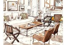 Interiors Illustrations