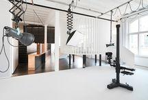 Art/Photography Studio Design Ideas / by Jackie Pena