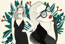 My Fashion illustrations / Fashion illustrations by Magdalena Pankiewicz