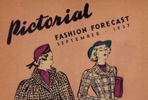 September 1937 Pictorial Fashion Forecast / 1930s sewing pattern pamphlet from my collection.