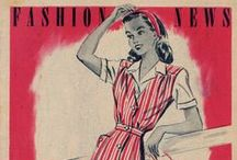May 1945 Advance Patterns Fashion News / 1940s sewing pattern pamphlet from my collection.