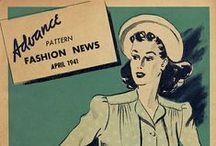 April 1941 Advance Pattern Fashion News / 1940s sewing pattern pamphlet from my collection.