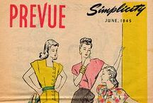 June 1945 Simplicity Prevue / 1940s sewing pattern pamphlet from my collection.