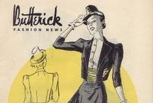 April 1939 Butterick Fashion News / 1930s sewing pattern pamphlet from my collection.