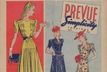 May 1940 Prevue Simplicity Fashions / 1940s sewing pattern pamphlet from my collection.