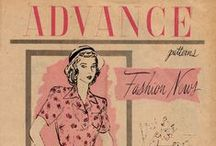 August 1947 Advance Patterns Fashion News / 1940s sewing pattern pamphlet from my collection.