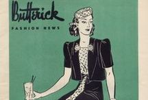 June 1939 Butterick Fashion News / 1930s sewing pattern pamphlet from my collection.