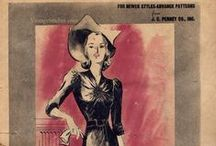 October 1940 Advance Pattern Fashion News / 1940s sewing pattern pamphlet from my collection.