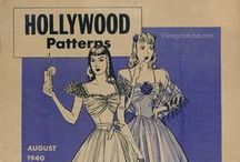 August 1940 Hollywood Patterns / 1940s sewing pattern pamphlet from my collection.