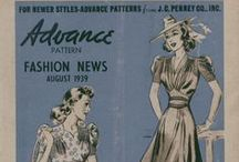 August 1939 Advance Pattern Fashion News / 1930s sewing pattern pamphlet from my collection.