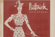July 1939 Butterick Fashion News / 1930s sewing pattern pamphlet from my collection.