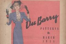 March 1938 DuBarry Patterns / 1930s sewing pattern pamphlet from my collection.