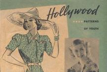 August 1938 Hollywood Patterns / 1930s sewing pattern pamphlet from my collection.