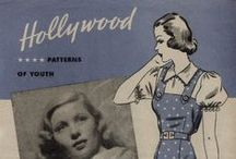 September 1938 Hollywood Patterns / 1930s sewing pattern pamphlet from my collection.