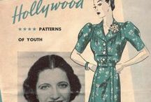 November 1938 Hollywood Patterns / 1930s sewing pattern pamphlet from my collection.