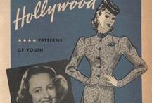 February 1939 Hollywood Patterns / 1930s sewing pattern pamphlet from my collection.