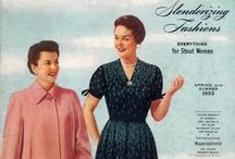 Spring and Summer 1955 Lane Bryant / Vintage 1950s plus size clothing catalog from my collection.