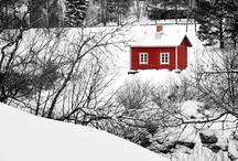 Winter and sauna