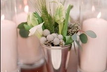 B and H Wedding Inspiration / inspired by fall colors in shades of green and gray. masculine and modern with some shine and sparkle (silver accents) / by stacy (sassevents)