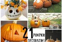 Holidays in October, November & December / A collection of ideas for all the fall and winter holidays, including  #fall harvest, #Halloween, #Thanksgiving, and #Christmas.