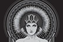 art deco/art nouveau/film noir inspirations / by Tabitha Weyandt