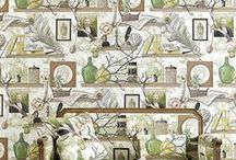 Wallpaper Statements / A selection of wallpapers to make a real impact available from Sally Bourne Interiors, 26 Muswell Hill Broadway, London, N10 3RT. Telephone 020 8444 3031 www.sallybourneinteriors.co.uk