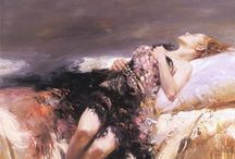 Pino Daeni / One of my favorite artists is Pino Daeni.  He is known for his Italian impressionist style of feminine, romantic women. This board is made up of his beautiful artwork. / by Janelle Nichol