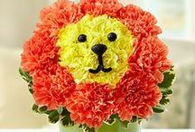 Animal Flowers / Lions, pandas, pigs, oh my! The creative floral designers at 1800flowers, have designed adorable animal flowers for children and adults alike! #animalflowers / by 1-800-FLOWERS