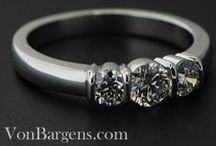 Bold and Sleek Bridal Rings / High polish, durable, striking engagement rings  / by Von Bargen's Jewelry