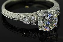 Vintage Inspired Bridal Rings / Engagement rings that conjure up images of the 1920's, platinum, hand engraving, flapper dresses, head bands and The Great Gatsby,  / by Von Bargens Jewelry