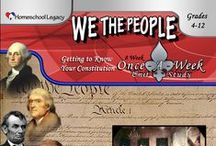 Homeschool Legacy:WE THE PEOPLE: GETTING TO KNOW YOUR CONSTITUTION / We are currently using this Once a Week Unit Study. Here I'll pin what we find to go along with the study.  You can find We the People: Getting to Know Your Constitution at: http://homeschoollegacy.com/product/we-the-people/
